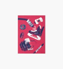 Tools of a Hockey Player Art Board Print