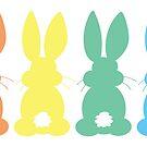 Rainbow Bunny Easter Parade by SamAnnDesigns
