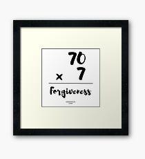 forgiveness-Christian Bible Verse T-Shirts/Gifts Framed Print