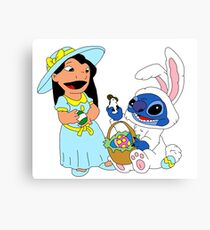 Lilo and bunny stitch  Canvas Print