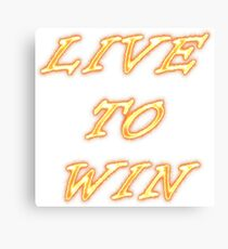Life for winning Canvas Print