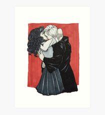 Dramione Kiss Art Print
