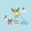 «Dreams of fredoom» de Carolina  Zambrano Enriquez