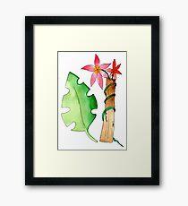 tropical floral  Framed Print