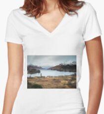 Glenfinnan Long Exposure Women's Fitted V-Neck T-Shirt