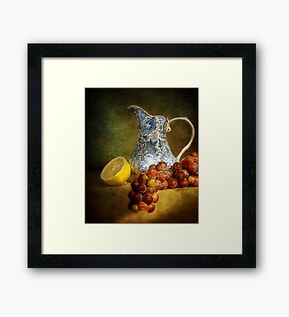 Pitcher With Fruit Framed Print