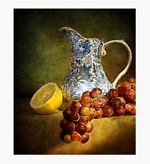 Pitcher With Fruit Photographic Print