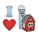 I love barns by Graphxpro