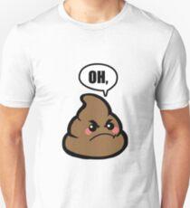 OH, Poop Lustiges Emoji Slim Fit T-Shirt