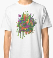 Frilly Blue monsters in a Runcible Garden Classic T-Shirt