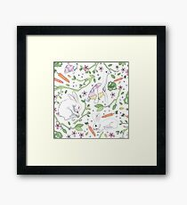What Race? Hares and Tortoises Framed Print