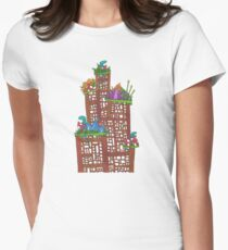 A little tower of toadstools and lizards  Women's Fitted T-Shirt