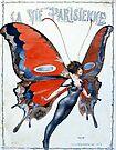 Vintage Art Deco Butterfly Woman Paris by mindydidit