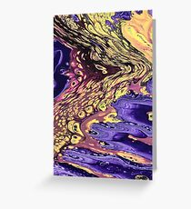 Purple Flow Greeting Card