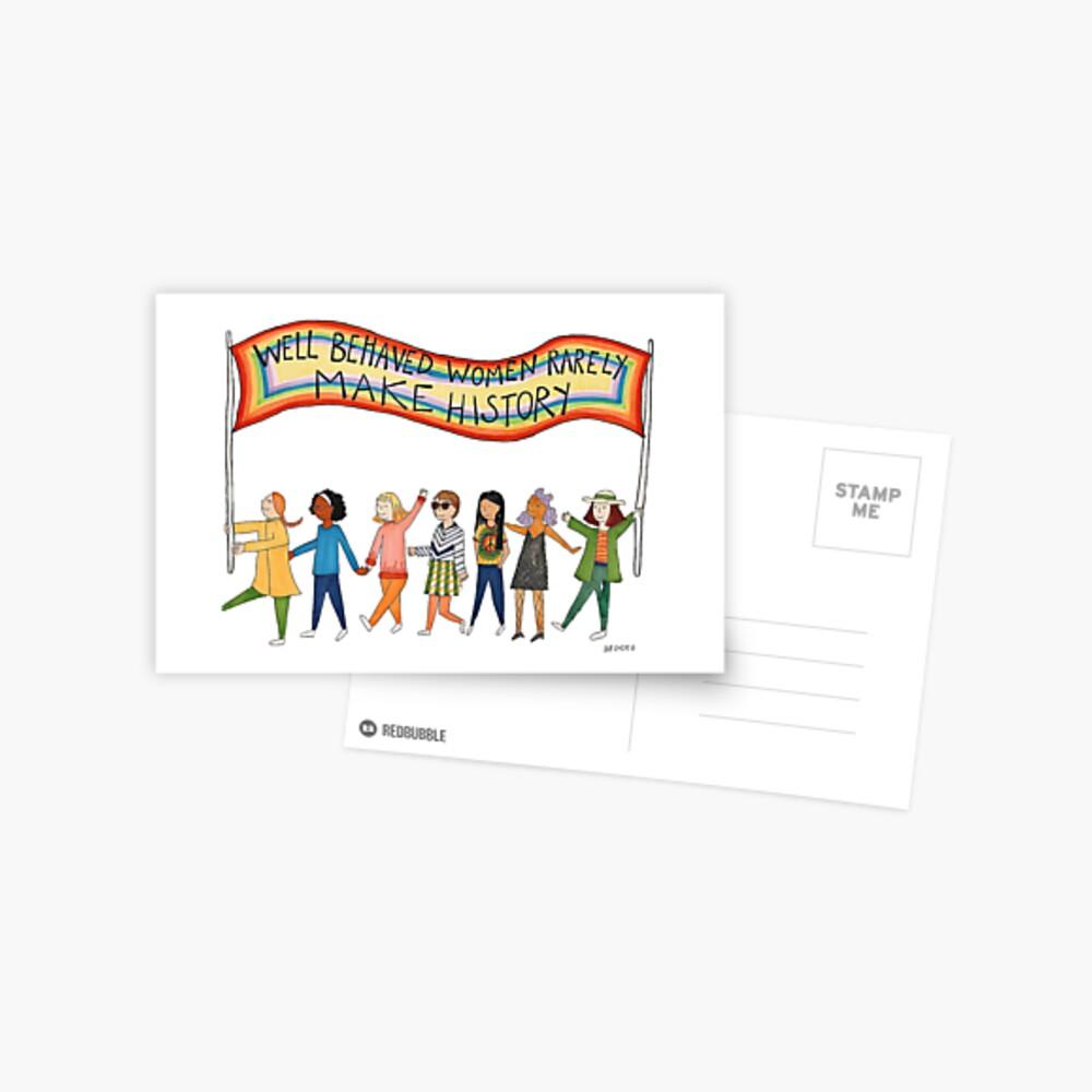 Gut benommene Frauen machen selten Geschichte Postkarte