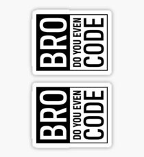 Bro Do you Even Code Sticker