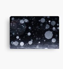 Snowflakes in the night Canvas Print