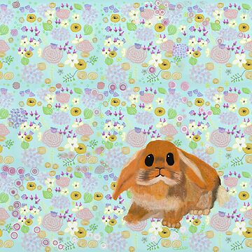 cute Spring bunny rabbit by Valiante