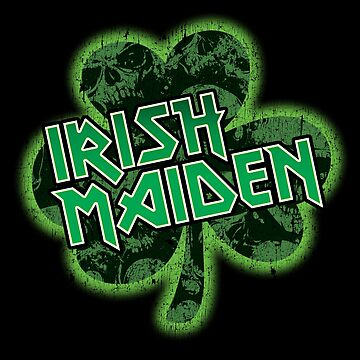 Irish Maiden St. Patrick's Day Parody Metal T-Shirt by andzoo