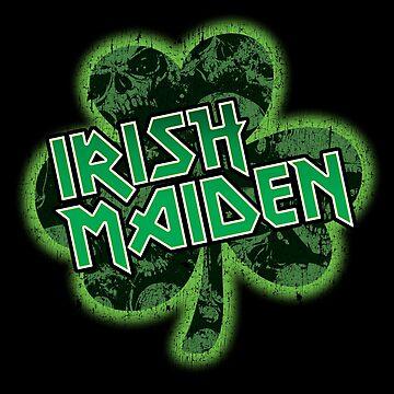 Irish Maiden St. Patrick's Day Parody Metal T-Shirt by andzoo