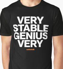 16229-05-BDK – Stable Genius – Very (White) Graphic T-Shirt