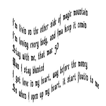 "Lil B ""Flowers Rise"" Lyrics BasedGod Quote Unisex Tshirt Classic HipHop by codenoir"