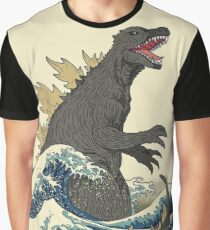 Kujira & The Great Wave at Kanagawa Graphic T-Shirt