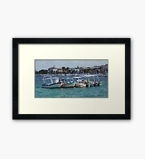 Boats in a Row Framed Print