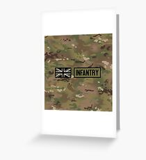 British Flag: Infantry Greeting Card