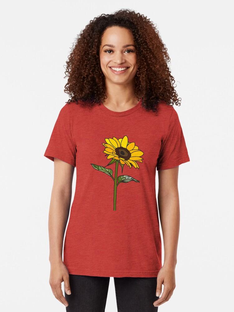 Alternative Ansicht von Ästhetische Sonnenblume Vintage T-Shirt