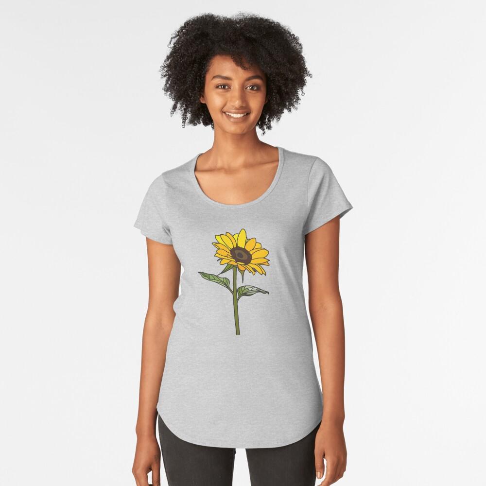 Ästhetische Sonnenblume Frauen Premium T-Shirt