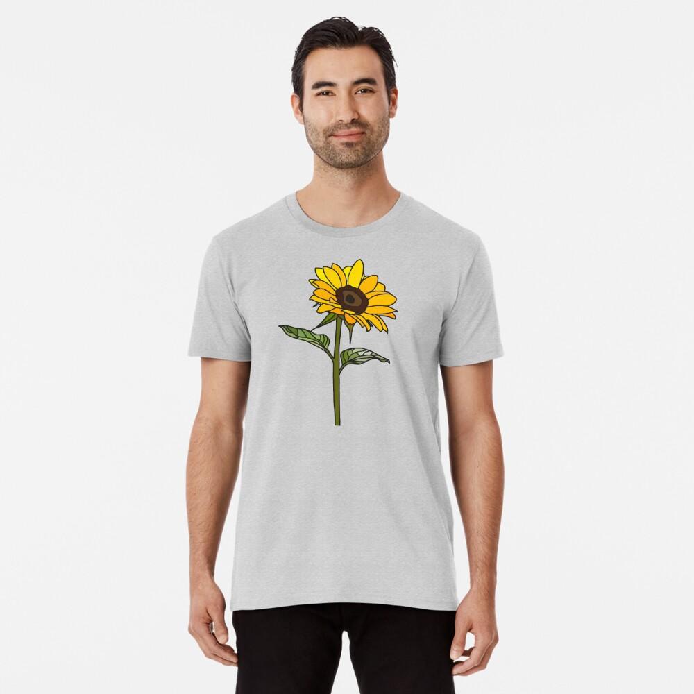 Ästhetische Sonnenblume Premium T-Shirt