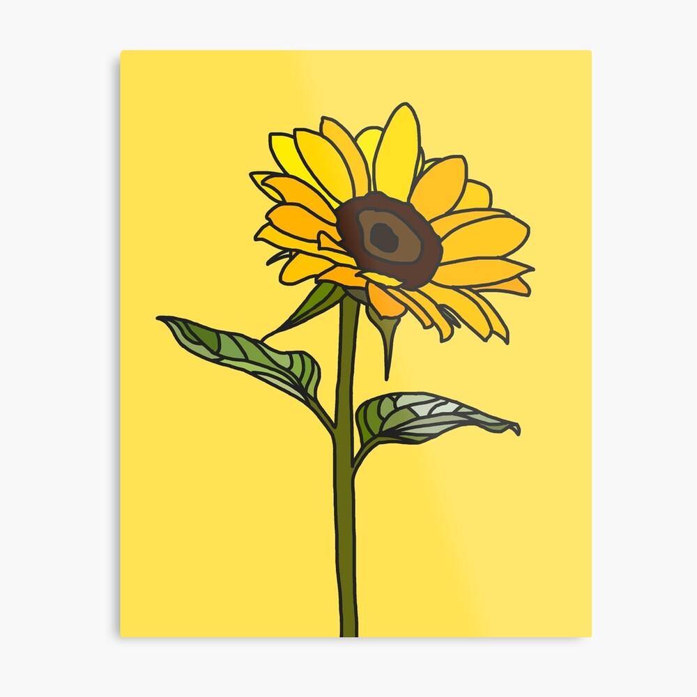 Ästhetische Sonnenblume Metalldruck