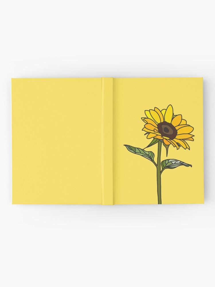 Vista alternativa de Cuaderno de tapa dura Girasol estético
