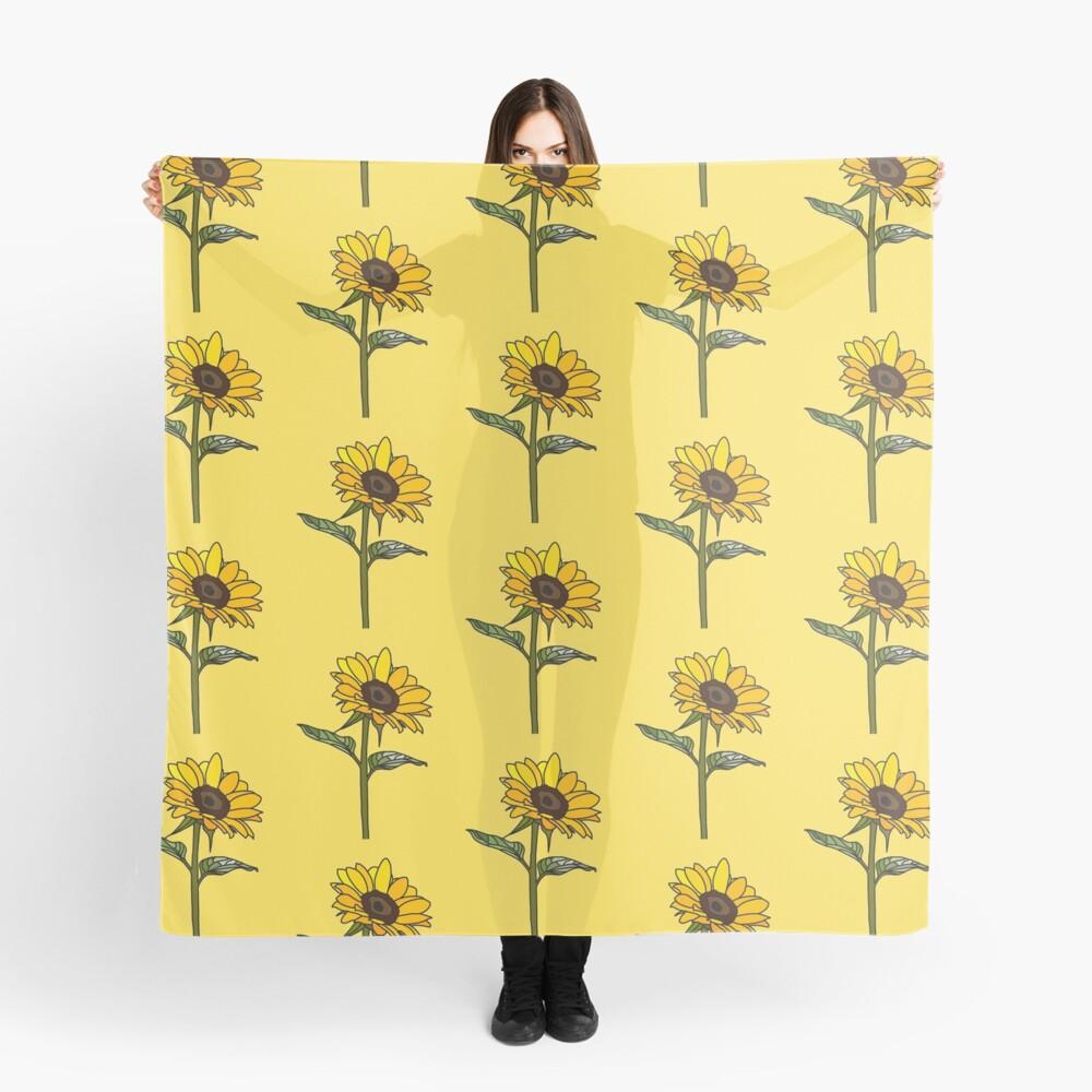 Ästhetische Sonnenblume Tuch