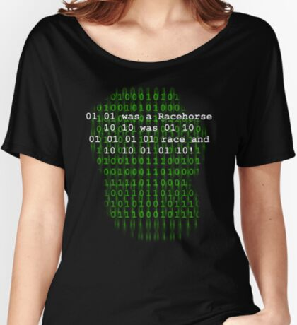 BINARY HUMOUR Women's Relaxed Fit T-Shirt