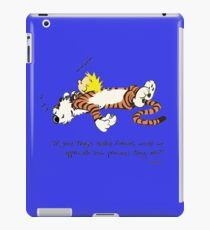 Calvin And Hobbes Quotes iPad Case/Skin