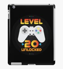 20th Birthday Gift - Level 20 Unlocked Funny Gamer Present iPad Case/Skin