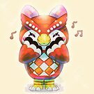 Red Little Owl by Tortieboo