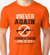 Gun Control, NEVER AGAIN Gun Reform Anti Gun Shirt Unisex T-Shirt
