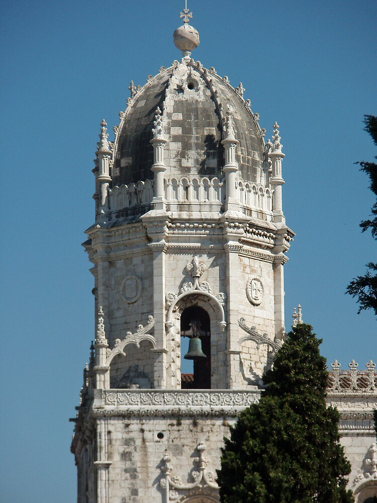 The clocktower of the chuch Sta, Maria by presbi