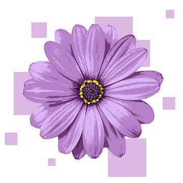 Geometrische lila Blume von Rocket-To-Pluto