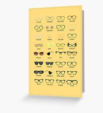Glasses Greeting Card