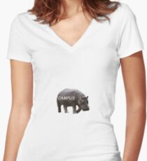 Hippo Campus Fitted V-Neck T-Shirt