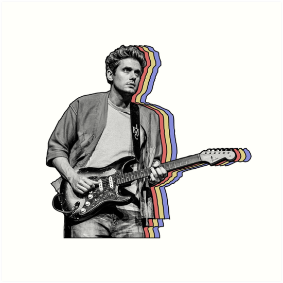 "John Mayer Cool Painting: ""John Mayer Layered"" Art Print By Hrubiks"
