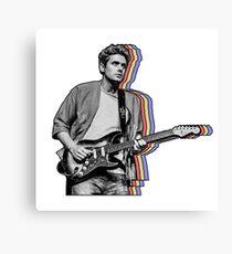 John Mayer Layered Canvas Print