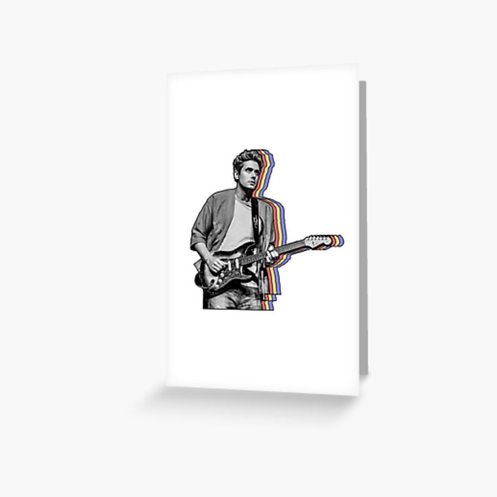 John Mayer en capas Tarjetas de felicitación