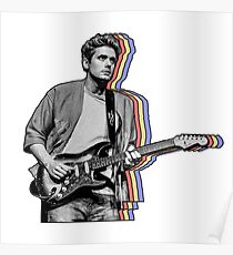 John Mayer Layered Poster