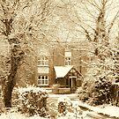 Old Winter Farmhouse by karenlynda