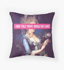 There Will Be Cake Throw Pillow